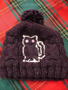 Kitty Cat Cabled Hat